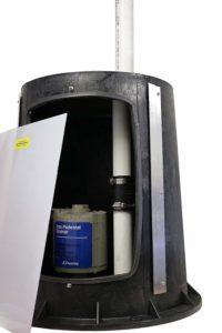 pedestal radon sump pump cover