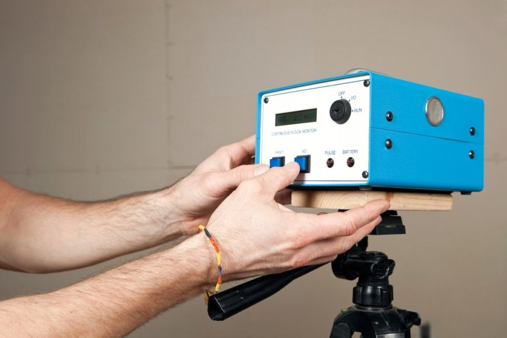A radon monitor for basement